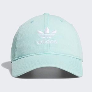 Adidas   mint green   embroidered trefoil logo hat